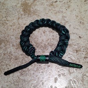Rastaclat Bracelet Wristband Shoelace Green Black